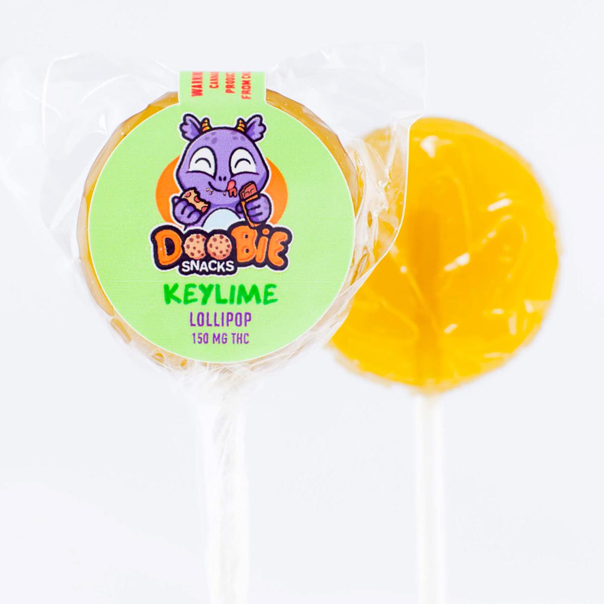 Keylime Lollipops 150MG THC by Doobie Snacks