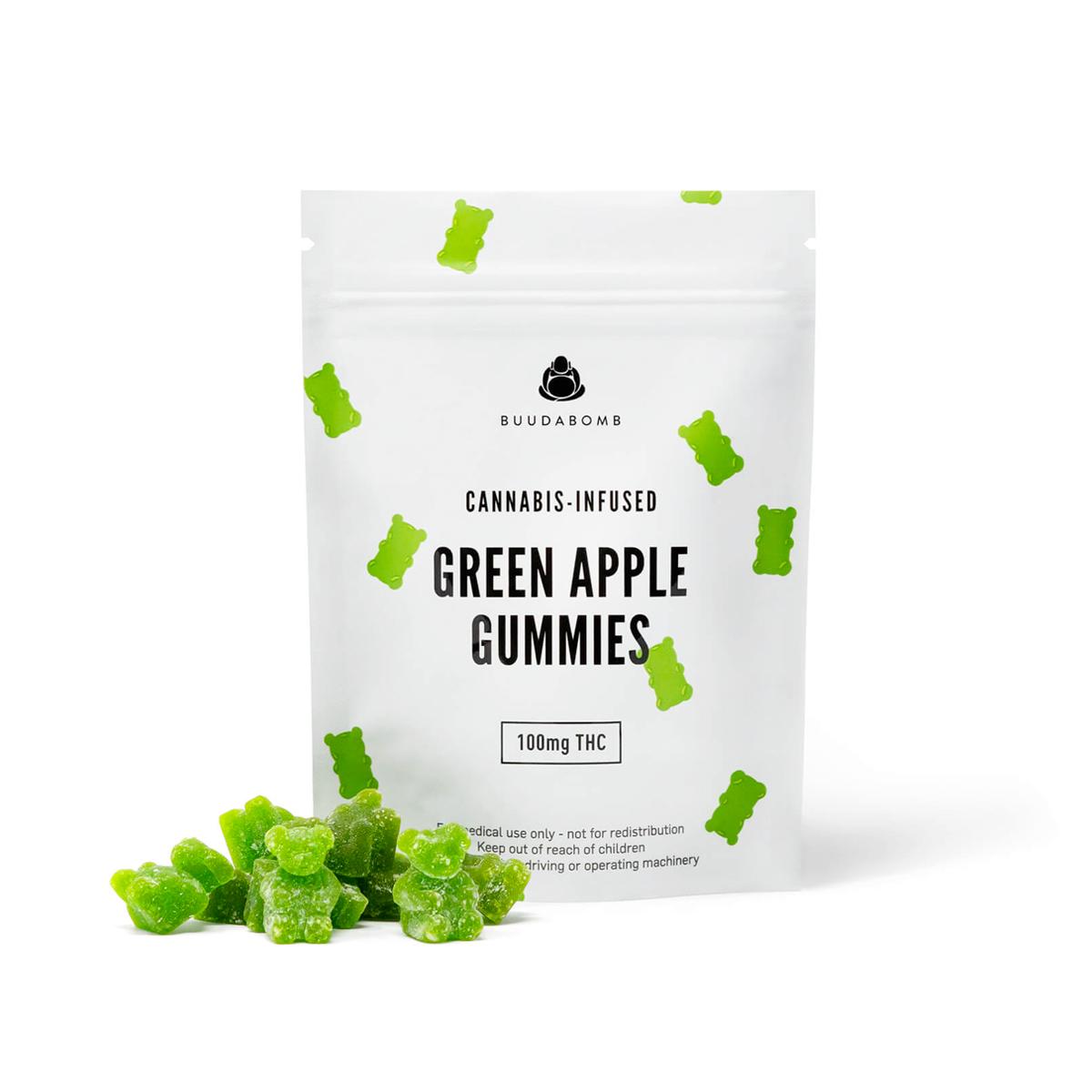 Buy Buudabomb - Green Apple Gummies