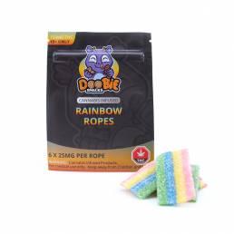 Buy Doobie Snacks Rainbow Ropes 150mg THC