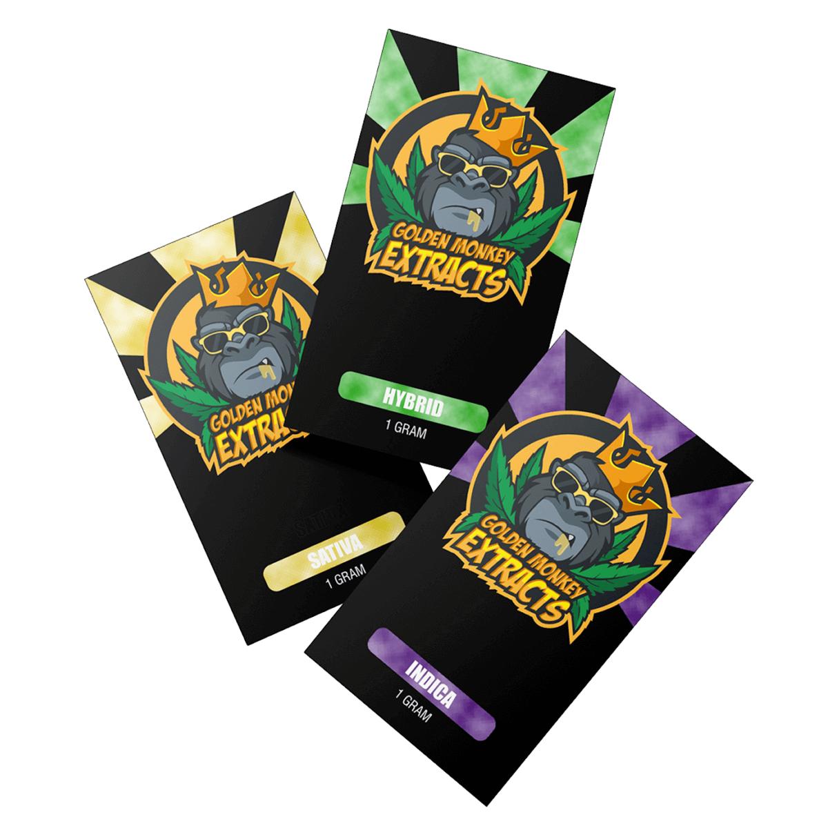 Golden Monkey - Gorilla Glue- Fruit Punch Shatter 1g