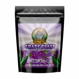 Buy Golden Monkey Grape Blast 240mg THC + 100mg CBD Gummies