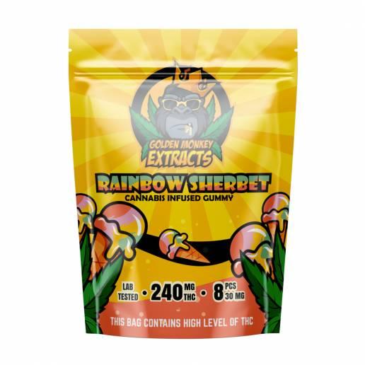 Buy Golden Monkey Rainbow Sherbet - 240mg THC