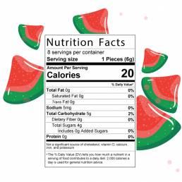 Golden Monkey Sour Watermelon - 240mg THC facts