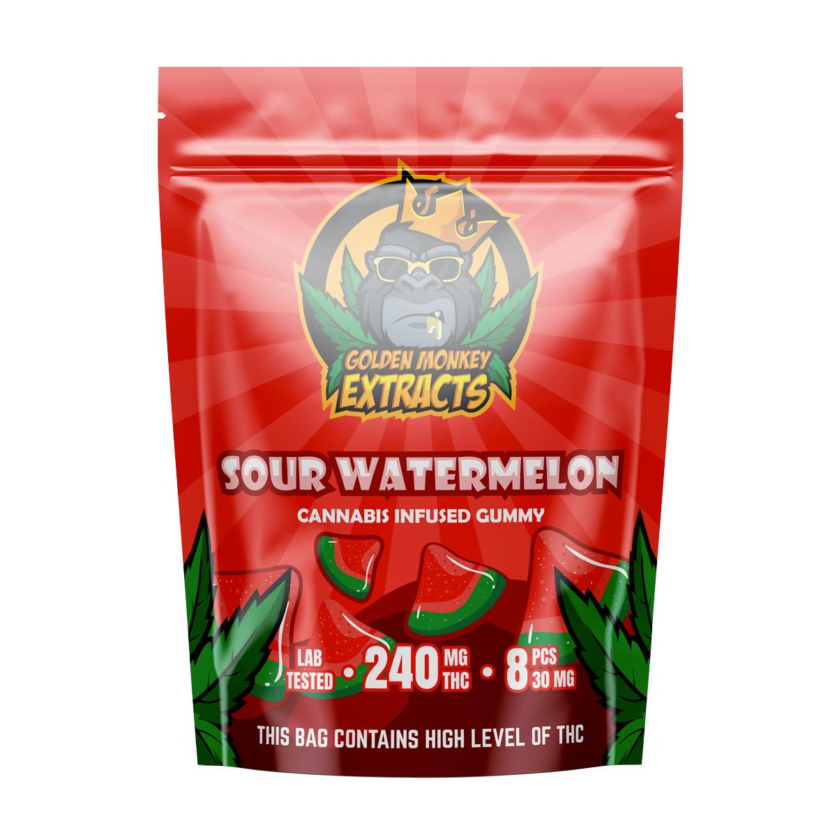 Buy Golden Monkey Sour Watermelon - 240mg THC Online