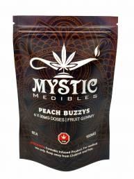 Buy Mystic Medibles - Peach Buzzys 180mg ONline
