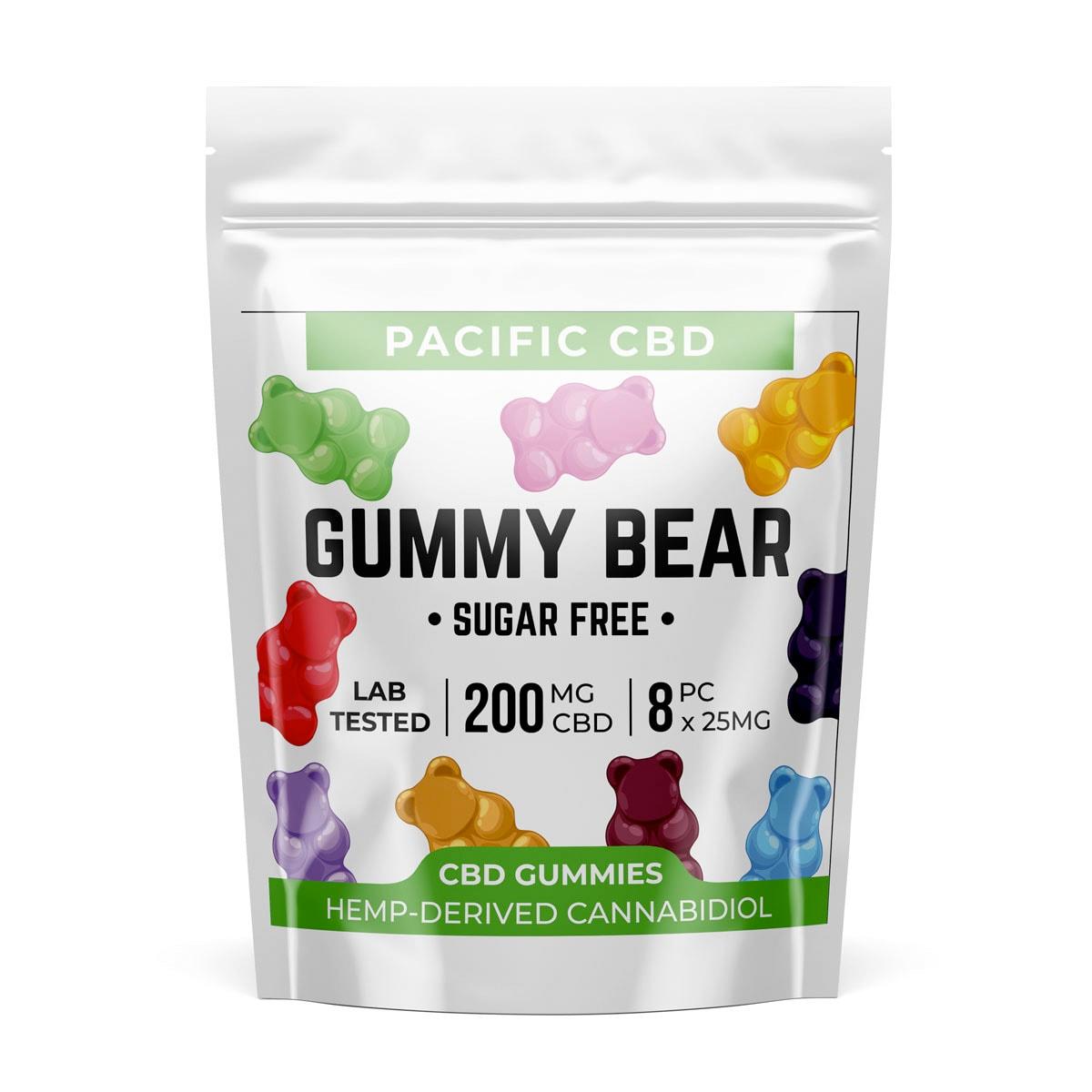 Buy Pacific CBD Sugar Free Gummy Bears 200mg
