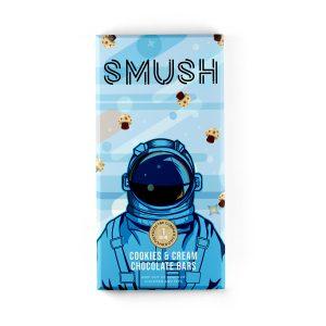 Buy Smush - Mushroom Cookies & Cream Chocolate Bars - 1gram