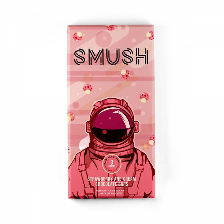 Buy Smush - Mushroom Strawberry & Cream Chocolate Bars - 3grams