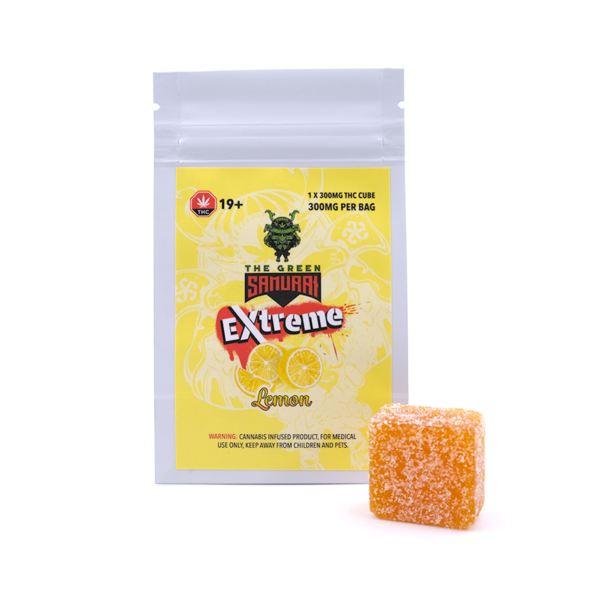 Buy The Green Samurai Extreme 300mg THC - Lemon