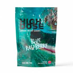 High Dose - Blue Raspberry THC Gummies 1000mg