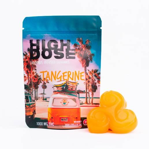 High Dose - Tangerine THC Gummies 1000mg