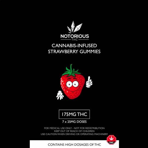 strawberry cannabis edibles